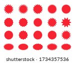 set of star burst stickers.... | Shutterstock .eps vector #1734357536