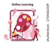 art online education concept.... | Shutterstock .eps vector #1734362339