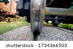 Image Between The Metal Rail...