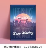 motivation poster mock up with... | Shutterstock .eps vector #1734368129