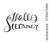 hello summer   handwritten... | Shutterstock .eps vector #1734374363