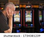 Sad and depressed caucasian man ...