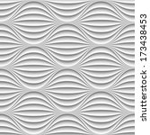 white seamless texture. wavy... | Shutterstock .eps vector #173438453