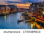 Grand Canal With Gondolas In...