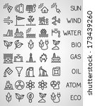 energy and resource icon set.... | Shutterstock .eps vector #173439260
