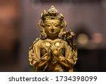 Gilt Bronze Sitting Buddha...