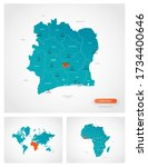 editable template of map of... | Shutterstock .eps vector #1734400646