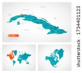 editable template of map of... | Shutterstock .eps vector #1734401123