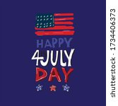 fourth of july independence day ... | Shutterstock .eps vector #1734406373