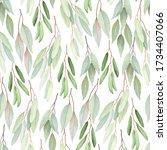 foliage seamless pattern ... | Shutterstock .eps vector #1734407066