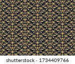 flower geometric pattern.... | Shutterstock .eps vector #1734409766
