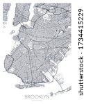 detailed borough map of... | Shutterstock .eps vector #1734415229