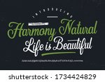 """""""harmony natural. life is...   Shutterstock .eps vector #1734424829"""