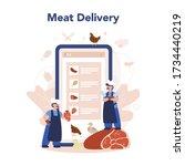 butcher or meatman online...   Shutterstock .eps vector #1734440219