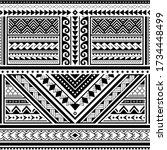 polynesian tattoo seamless... | Shutterstock .eps vector #1734448499