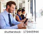 businessman using digital... | Shutterstock . vector #173445944