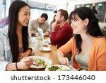 two female friends friends... | Shutterstock . vector #173446040