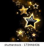 Shiny Gold Star With Small...