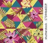 beach cheerful seamless pattern ... | Shutterstock .eps vector #1734466019