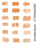 set of brush different orange... | Shutterstock . vector #1734466283