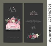 marriage invitation card. pink... | Shutterstock .eps vector #1734467906