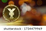 Yuan Symbol On Gold Coins 3d...