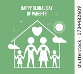 global day of parents vector... | Shutterstock .eps vector #1734482609