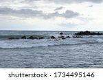 Stormy Sea During A Storm Near...
