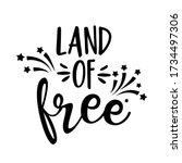 land of free   happy... | Shutterstock .eps vector #1734497306