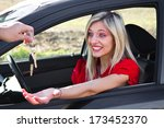 delivery car | Shutterstock . vector #173452370