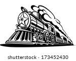Retro Locomotive With Smoke...
