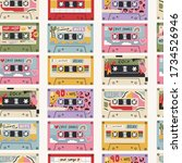 various retro vintage tape...   Shutterstock .eps vector #1734526946
