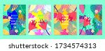 summer tropical covers... | Shutterstock .eps vector #1734574313