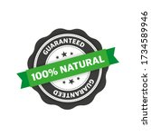 stamp with 100  natural... | Shutterstock .eps vector #1734589946