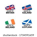 set of four british  icelandic  ... | Shutterstock .eps vector #1734591659