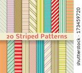 20 retro striped vector... | Shutterstock .eps vector #173459720