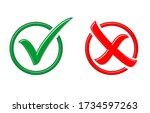 yes or no  approved or rejected ... | Shutterstock .eps vector #1734597263