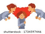 parents abusers screams and... | Shutterstock .eps vector #1734597446