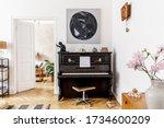Stylish And Cozy Interior Of...