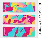 abstract vector wavy pattern... | Shutterstock .eps vector #1734610130