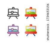 paint icon pack isolated on...