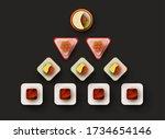 cartoon sushi roll different... | Shutterstock .eps vector #1734654146