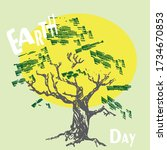 earth day. graphic image of a... | Shutterstock .eps vector #1734670853