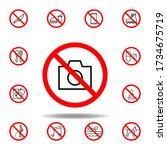 forbidden camera icon. set can...