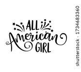 all american girl   happy... | Shutterstock .eps vector #1734683360