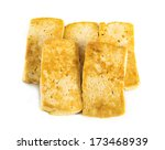 fried tofu on a white background   Shutterstock . vector #173468939
