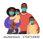 mother father daughter and son... | Shutterstock .eps vector #1734714830