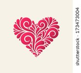 vector heart. original modern...   Shutterstock .eps vector #173473004