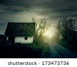 dark vintage style photo of... | Shutterstock . vector #173473736