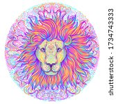 Patterned Ornate Lion Head....